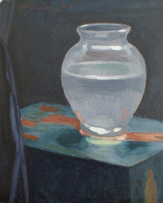 Newberry, Frosted Jar, 2004, 12x9""