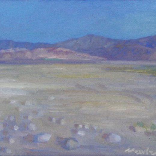 "Newberry, Mojave, 2017, oil on panel, 12x16"""