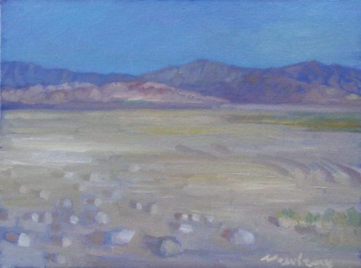 Newberry, Mojave, 2017, oil on panel, 12x16""