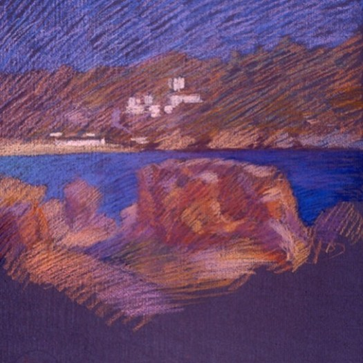 newberry-mykanos-pastel-on-dark-paper-pc-1