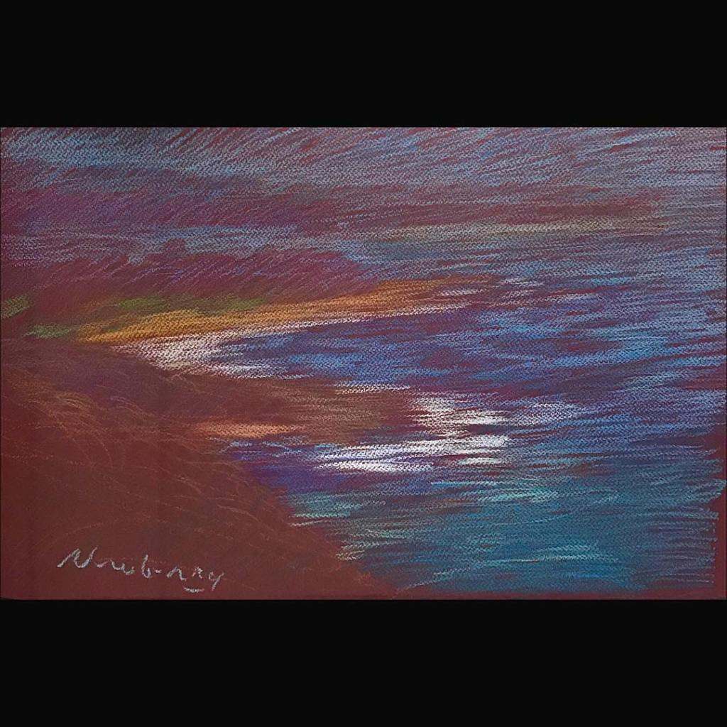 newberry-orange-sand-central-coast-4-pastel-on-dark-paper-pc