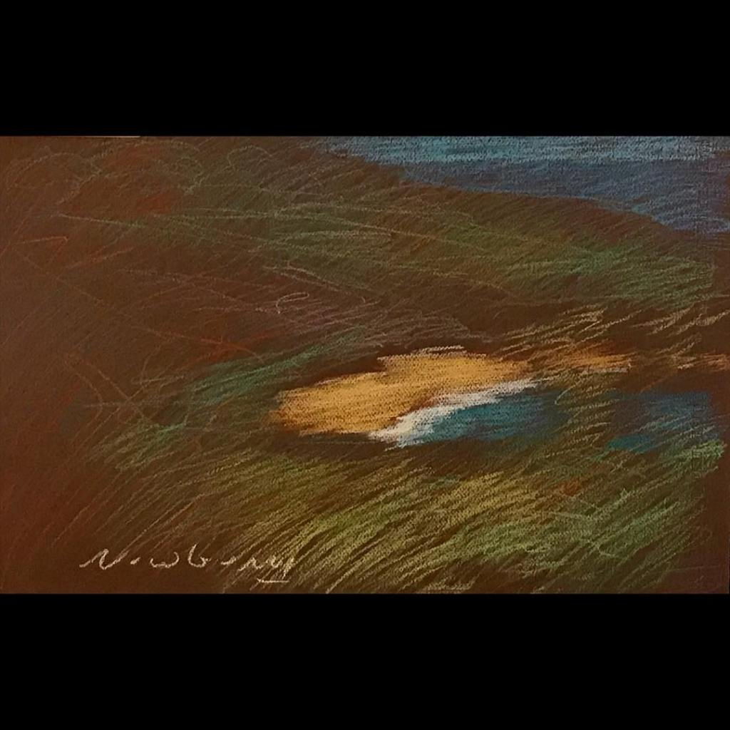newberry-orange-sand-central-coast-pastel-on-dark-paper-sc