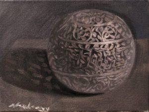 "Newberry, Orb 8, oil on linen, 10x8"""