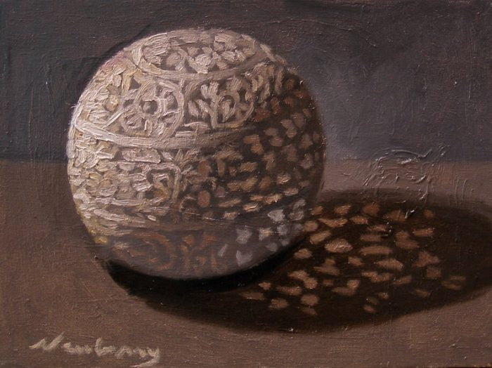 Newberry, Orb 9, oil on linen, 10x8""