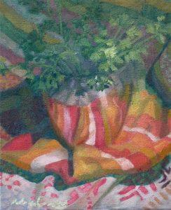 "Newberry, Parsley, 2016, oil on panel, 12x9"""