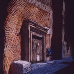 newberry-pythagora-street-rhodes-pastel-on-dark-paper-pc