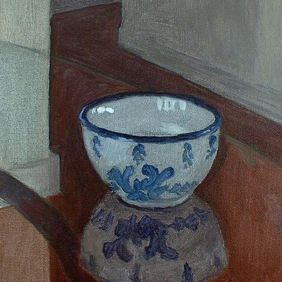 Newberry, Bowl's Reflection, 2004, oil on panel, 12x9""