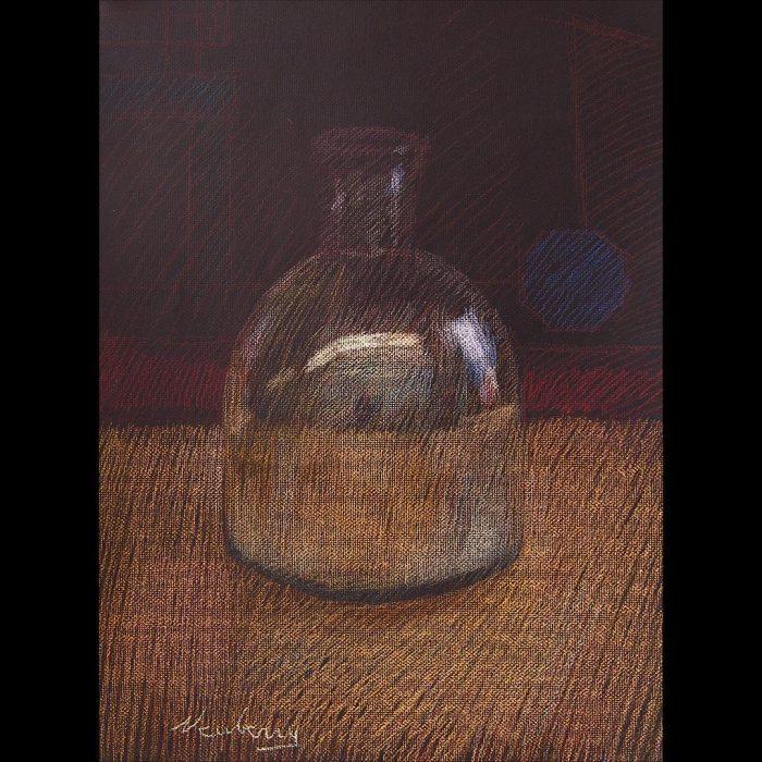 newberry-reflective-vase-pastel-on-dark-paper-pc
