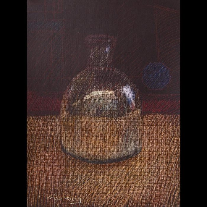 newberry-reflective-vase-pastel-on-dark-paper-pc