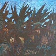 newberry-rhodes-cacti-pastel-on-dark-paper-pc