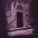 newberry-rhodes-church-pastel-on-dark-paper-pc
