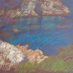 newberry-rhodes-cove-pastel-on-dark-paper-pc