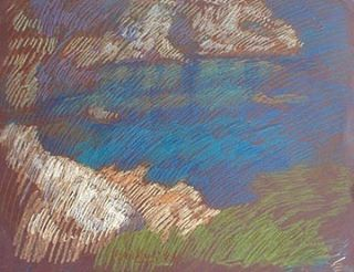 newberry-rhodes-cove-pastel-on-dark-paper-pc