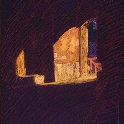 newberry-rhodes-gate-pastel-on-dark-paper-pc