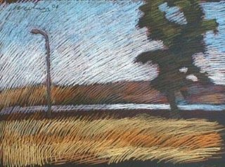 newberry-rhodes-road-lamp-pastel-on-dark-paper