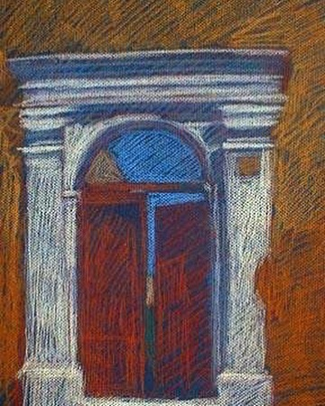 newberry-rhodes-white-gold-and-red-pastel-on-dark-paper-pc