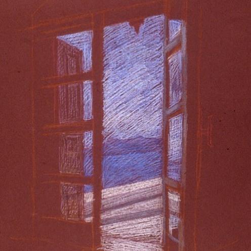 newberry-santorini-window-1-pastel-on-dark-paper-pc