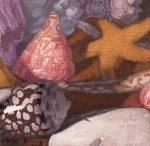 """Newberry, Shells Triptych 1, 2009, 6x6"""""""