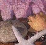 """Newberry, Shells Triptych 2, 2009, 6x6"""""""