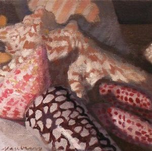"""Newberry, Shells Triptych 3, 2009, 6x6"""""""