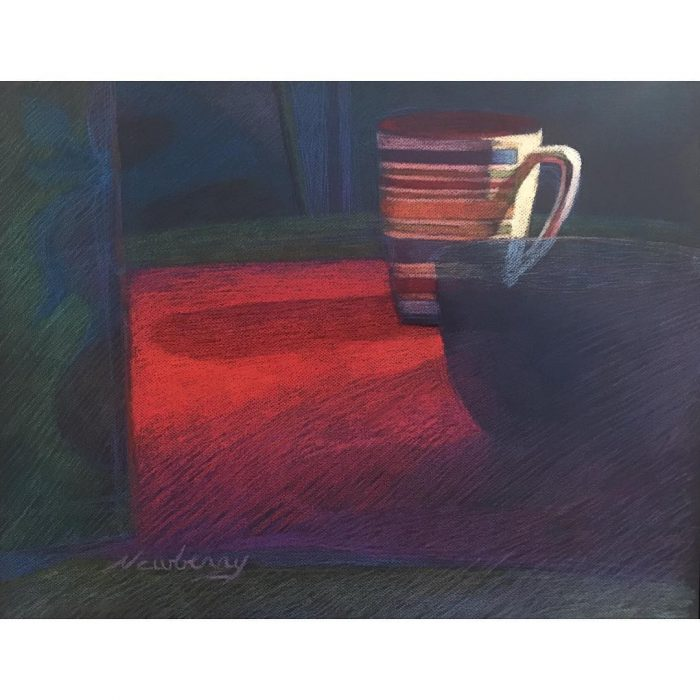 newberry-striped-cup-pastel-on-dark-paper-sc