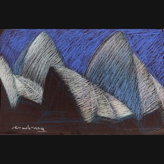 newberry-sydney-opera-house-pastel-on-dark-paper-sc