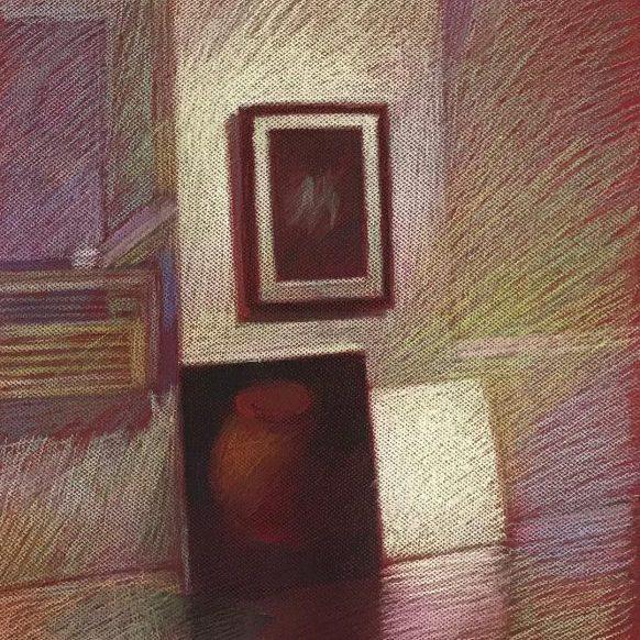 newberry-williamsburg-studio-pastel-on-red-paper-sc