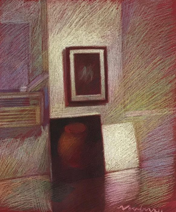 newberry-williamsburg-studio-pastel-on-red-paper-sc