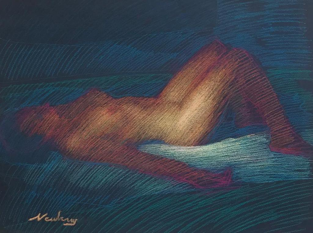 newberry-woman-reclining-blue-pastel-on-dark-paper-sc