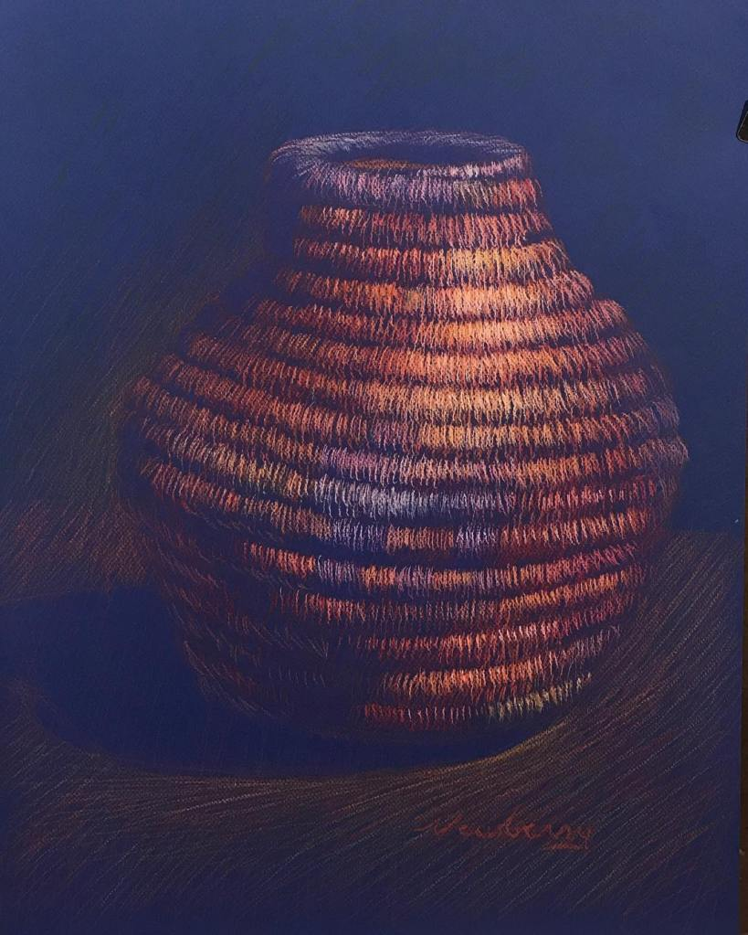 newberry-woven-basket-4-pastel-on-dark-paper-sc