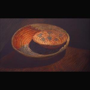 Newberry, Woven Baskets, pastel on dark paper, private collection