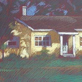 newberry-yellow-house-pastel-on-dark-paper-pc