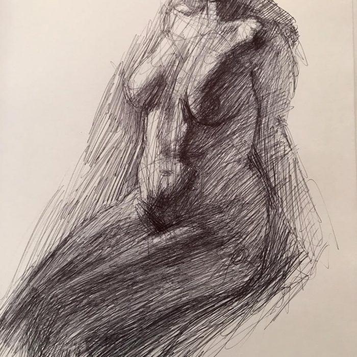 newberry_female_nude_posture_ink