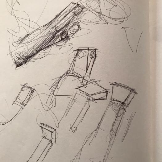 newberry_forearm_wrist_block_studies_ink