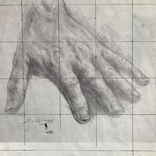 newberry_hand_study_oblivion_left_graphite