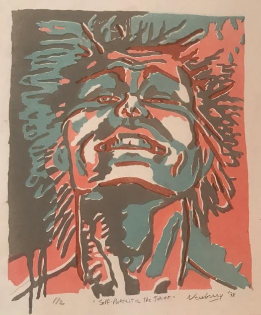 """Joker, 1978, lithograph 1/2, 14x12"""""""