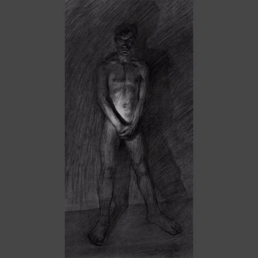 newberry_male_nude_standing_memory_charcoal