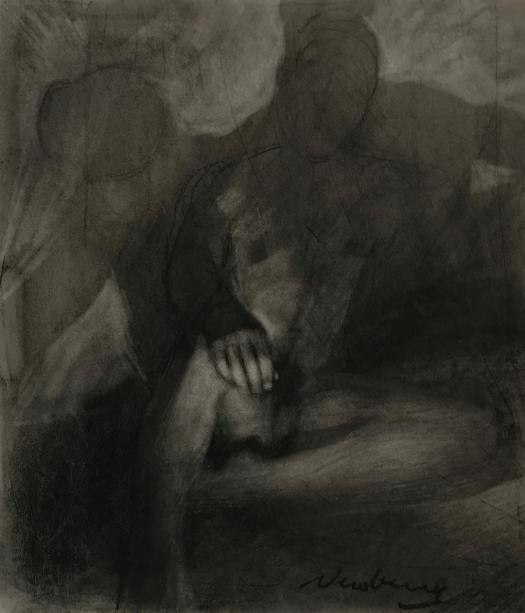 newberry_man_among_shadows_charcoal