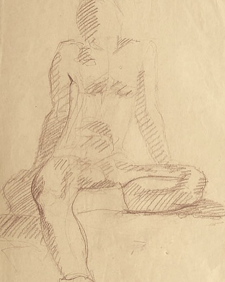 newberry_man_sitting_conte