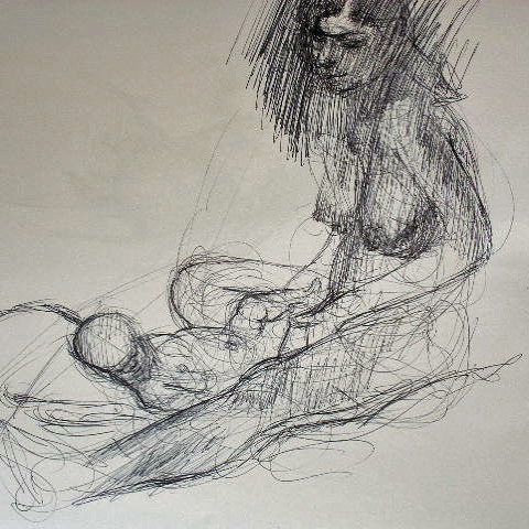 newberry_mother_child_graphite