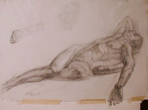 newberry_reclining_male_study_pond_graphite