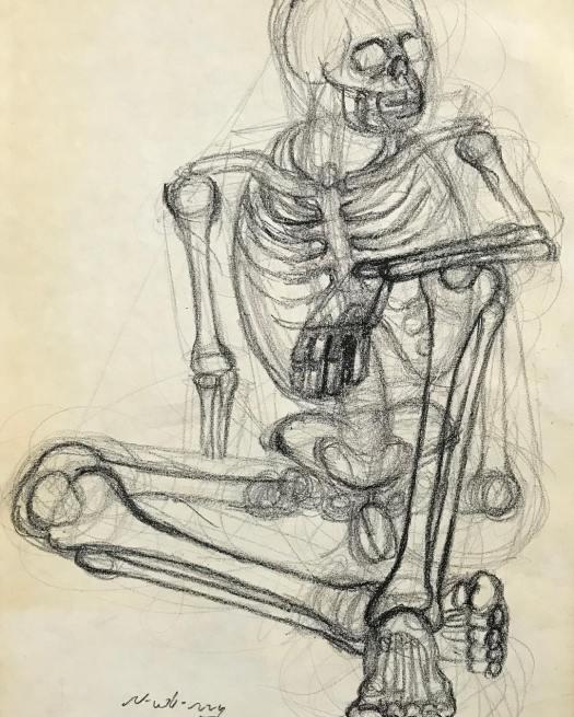newberry_sitting_skeleton_charcoal