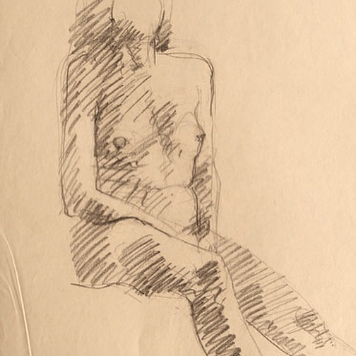 newberry_sitting_woman_life_sketch_conte