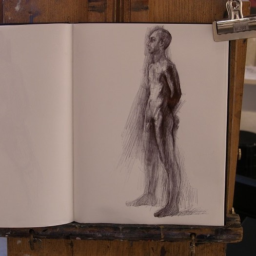 newberry_standing_man_notebook_ink