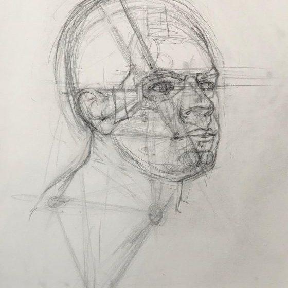 newberry_triangulation_portrait_study_graphite