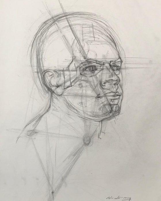 newberry_triangulation_portrait_study_graphite
