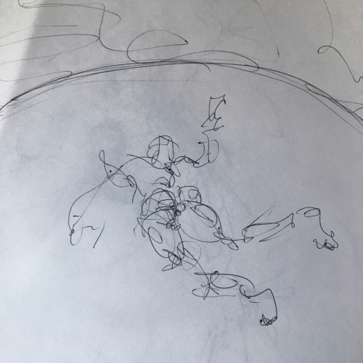 Concept sketch for Zeus creating the Earth
