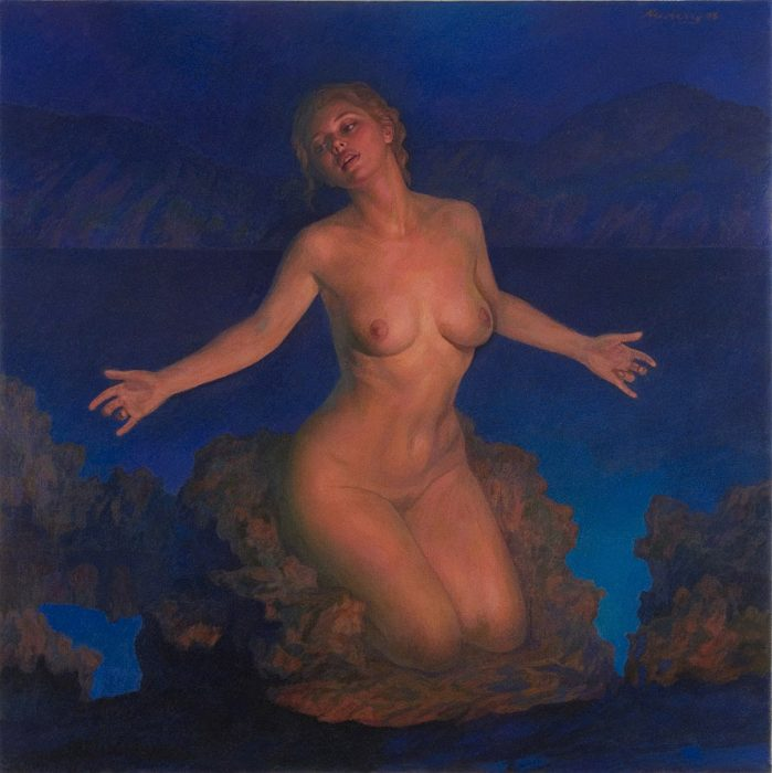 Venus, oil on linen, 48x48""
