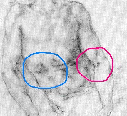 Michelangelo, Pieta, 1519-20 Newberry markup