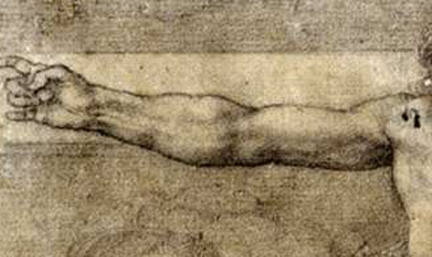Michelangelo, Christ on the Cross, 1541, black and white chalk.